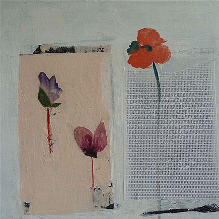 Informatique sensuelle (2012, Collage sur toile de lin, 30 x 40 cm)